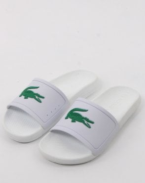 Lacoste Footwear Croco Slide White/green