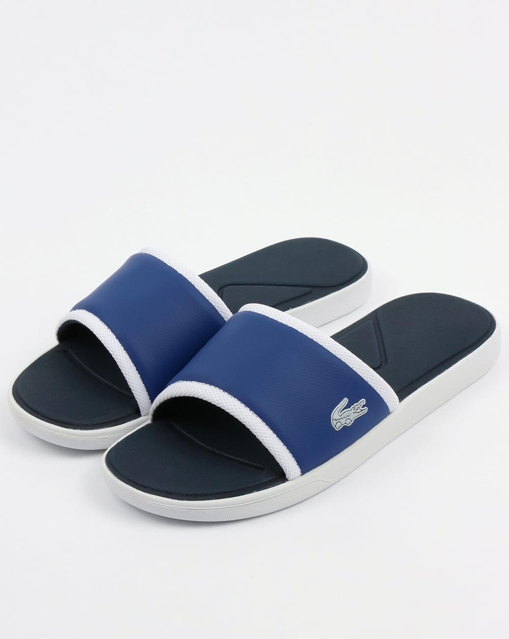 aa5601fc09209 Lacoste Lacoste Footwear L.30 Sliders Dark Blue