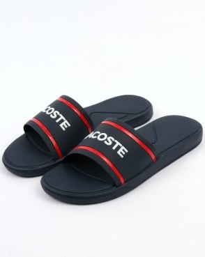 Lacoste Footwear L.30 Sliders Navy/Red