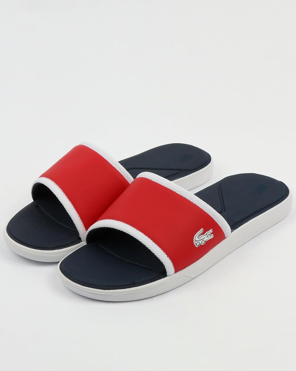 01abe99ec Lacoste Lacoste Footwear L.30 Sliders Red