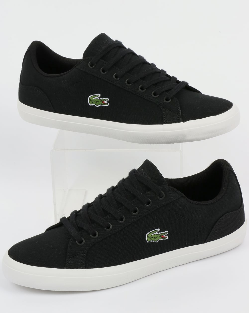4fb07f7d7 Lacoste Lacoste Footwear Lerond Canvas Trainers Black
