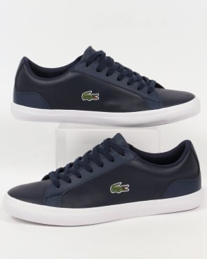 Lacoste Footwear Lerond Leather Trainers Navy