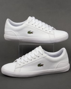 Lacoste Footwear Lerond Leather Trainers White