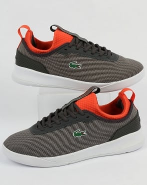 Lacoste Footwear LT Spirit 2.0 Trainers Dark Grey/Red