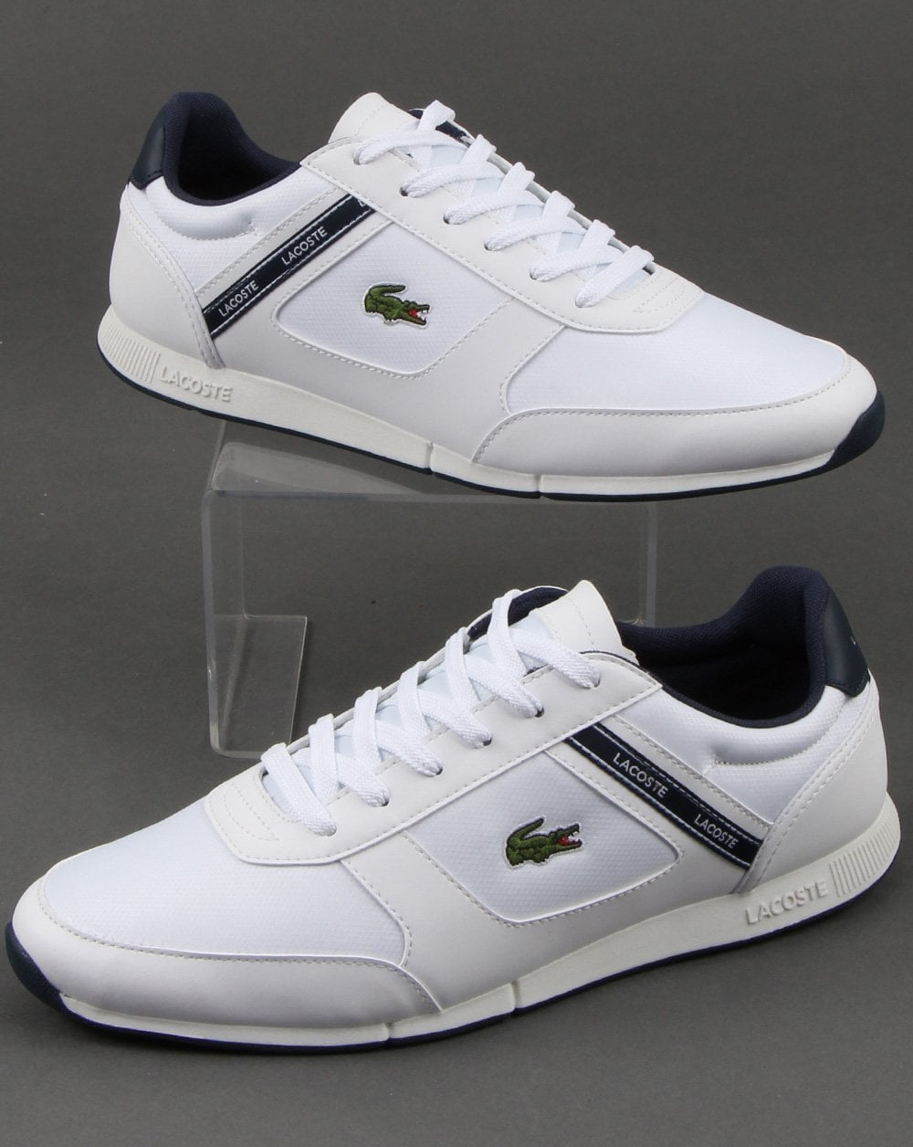 c6f8834e1 Lacoste Lacoste Footwear Menerva Trainer White navy
