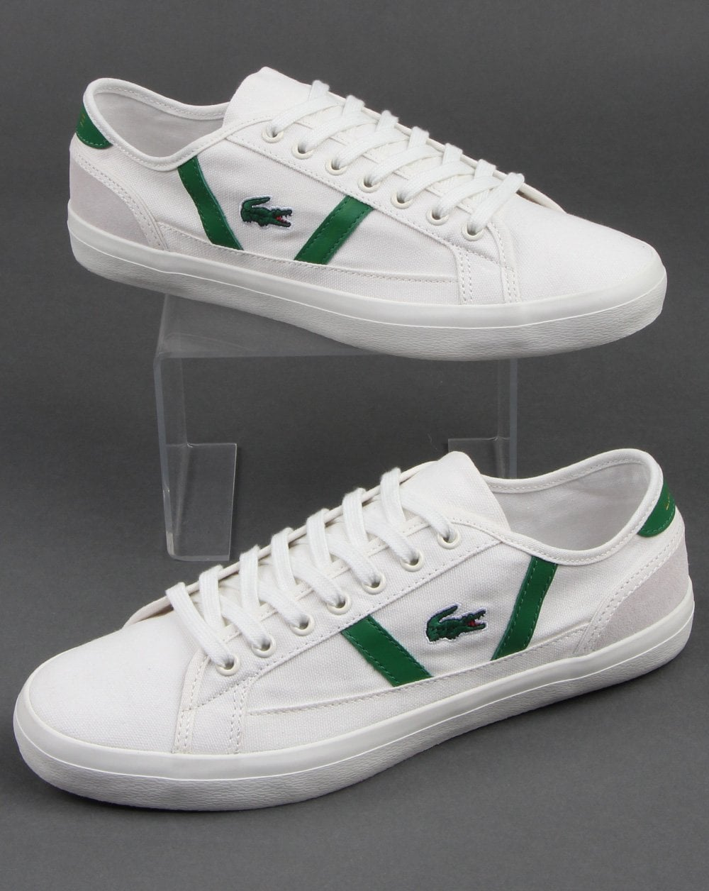 lacoste shoes green white - 65% OFF