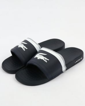 Lacoste Fraisier Pool Sliders Navy Blue