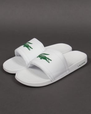 Lacoste Fraisier Pool Sliders White