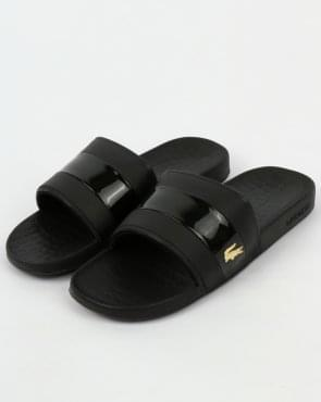 Lacoste Fraisier Sliders Black/Gold