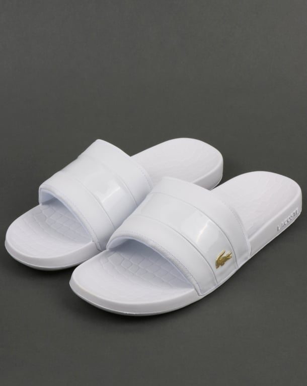 Lacoste Fraisier Sliders White/Gold