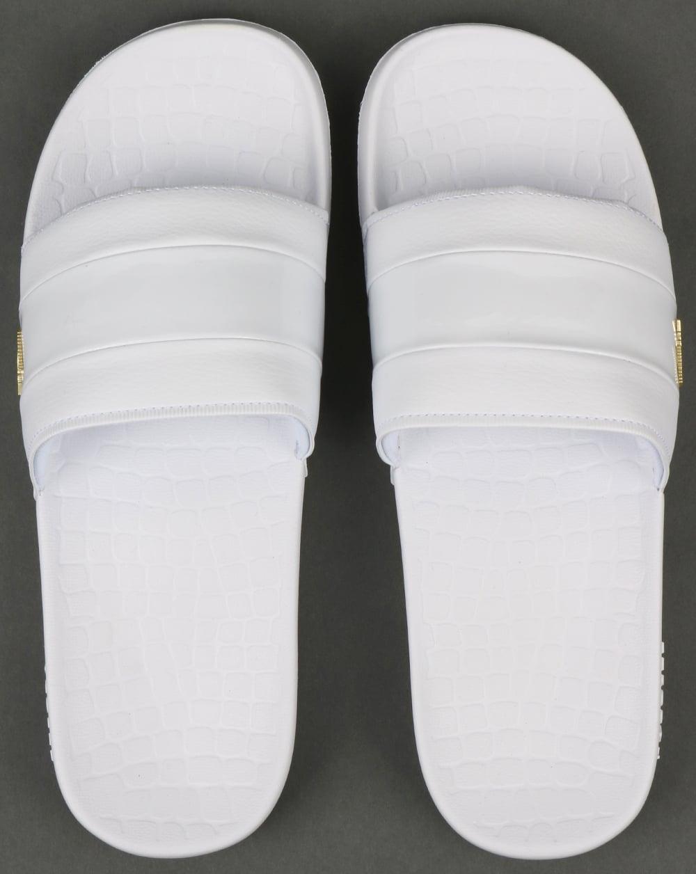 Lacoste Fraisier Sliders White/Gold
