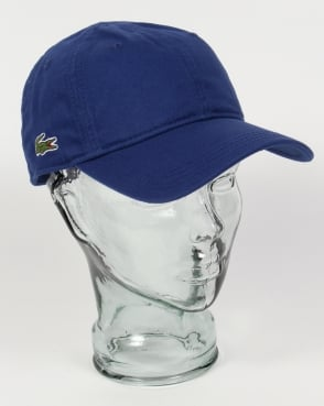 Lacoste Gabardine Baseball Cap Royal Blue