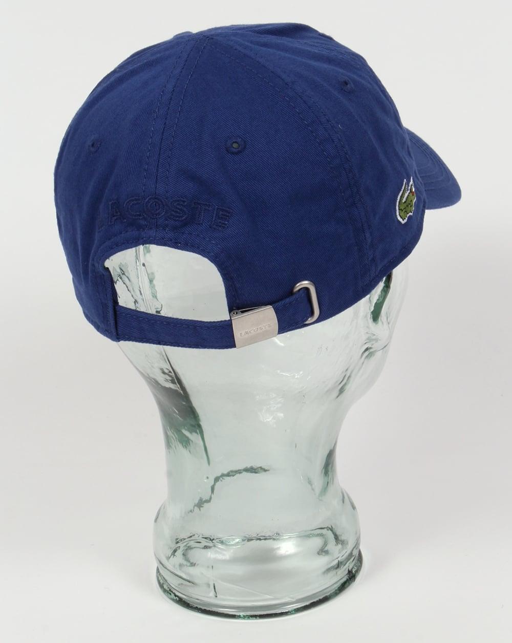 84a06828c451 Lacoste Gabardine Baseball Cap Royal Blue