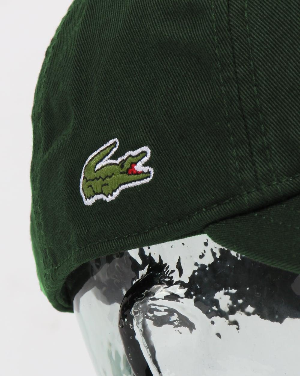 Lacoste Gabardine Cap Dark Green 8c914d27226