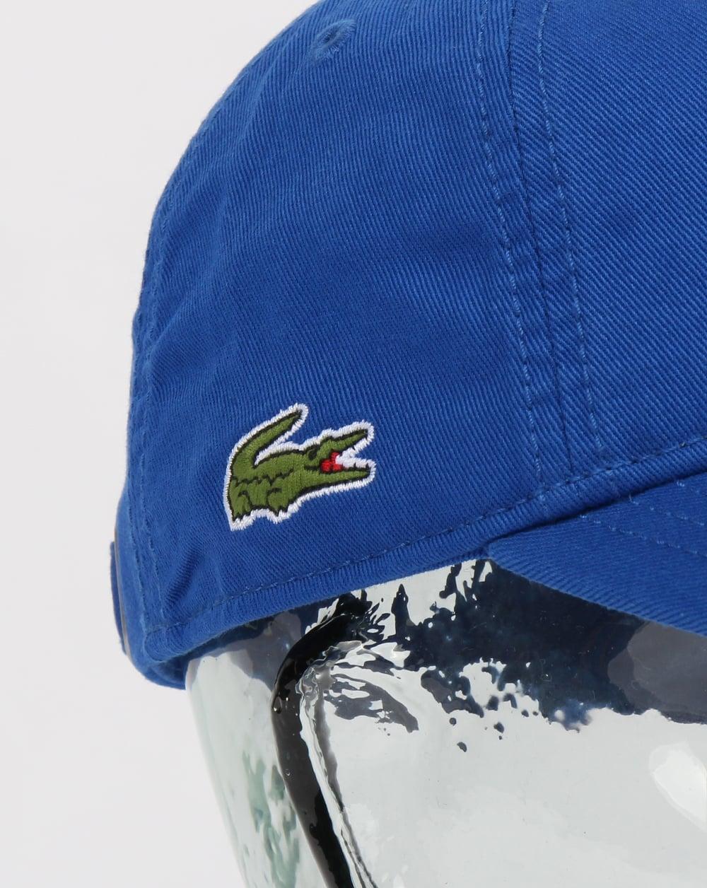 fe1e7e51e53f Lacoste Gabardine Cap Royal Blue