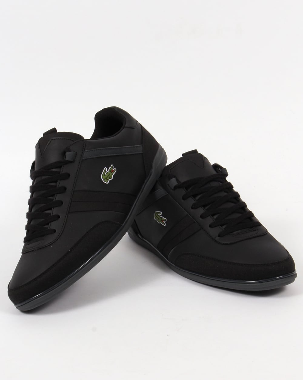 lacoste giron trainers blackshoesmens