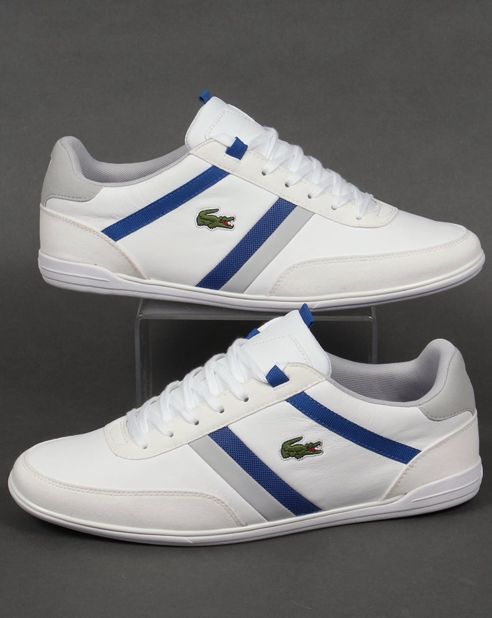 meet new arrival super specials Lacoste Giron Trainers White/Royal,shoes,mens