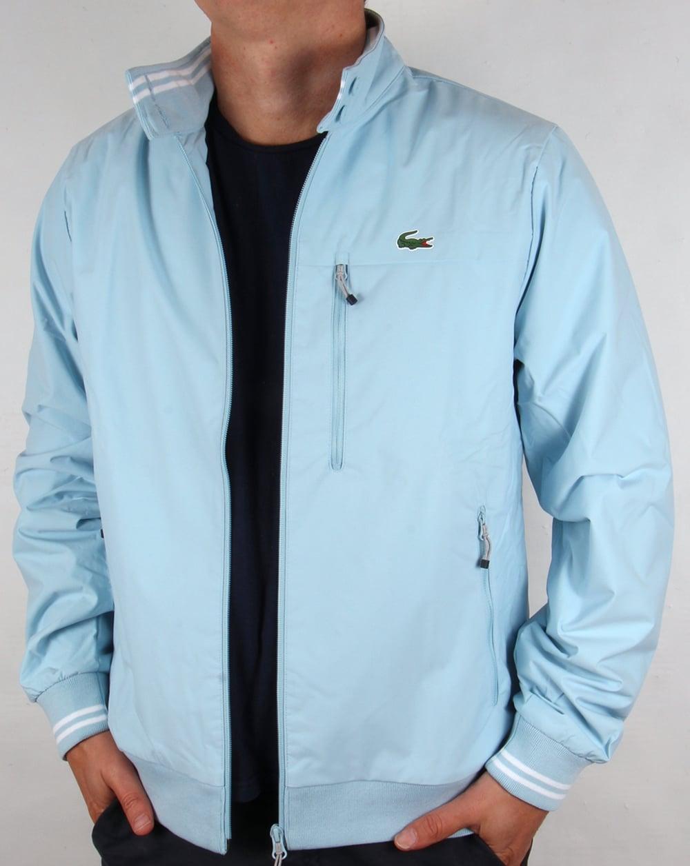 lacoste golf jacket sky blue sport mens harrington coat bomber. Black Bedroom Furniture Sets. Home Design Ideas