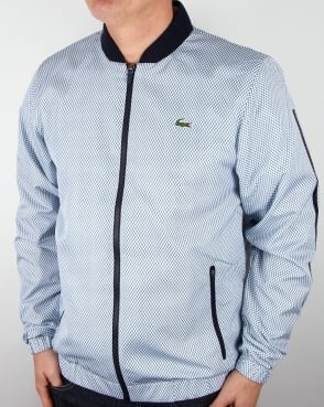 Lacoste Honeycomb Track Jacket White/Navy