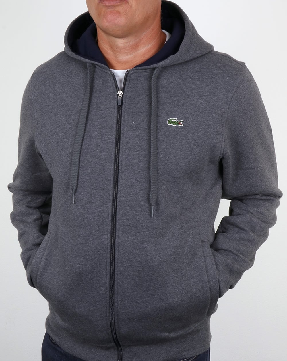 df70d2880054f0 Lacoste Hooded Full Zip Sweatshirt Pitch Navy