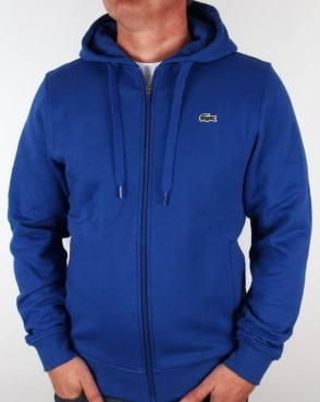 Lacoste Hooded Full Zip Sweatshirt Royal Blue