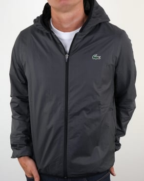 Lacoste Hooded Jacket Black/Charcoal