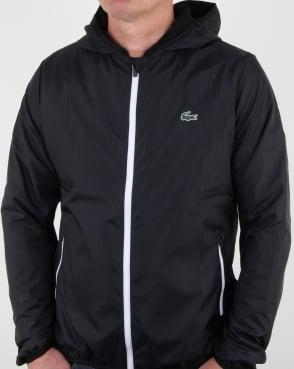 Lacoste Hooded Jacket Black/white