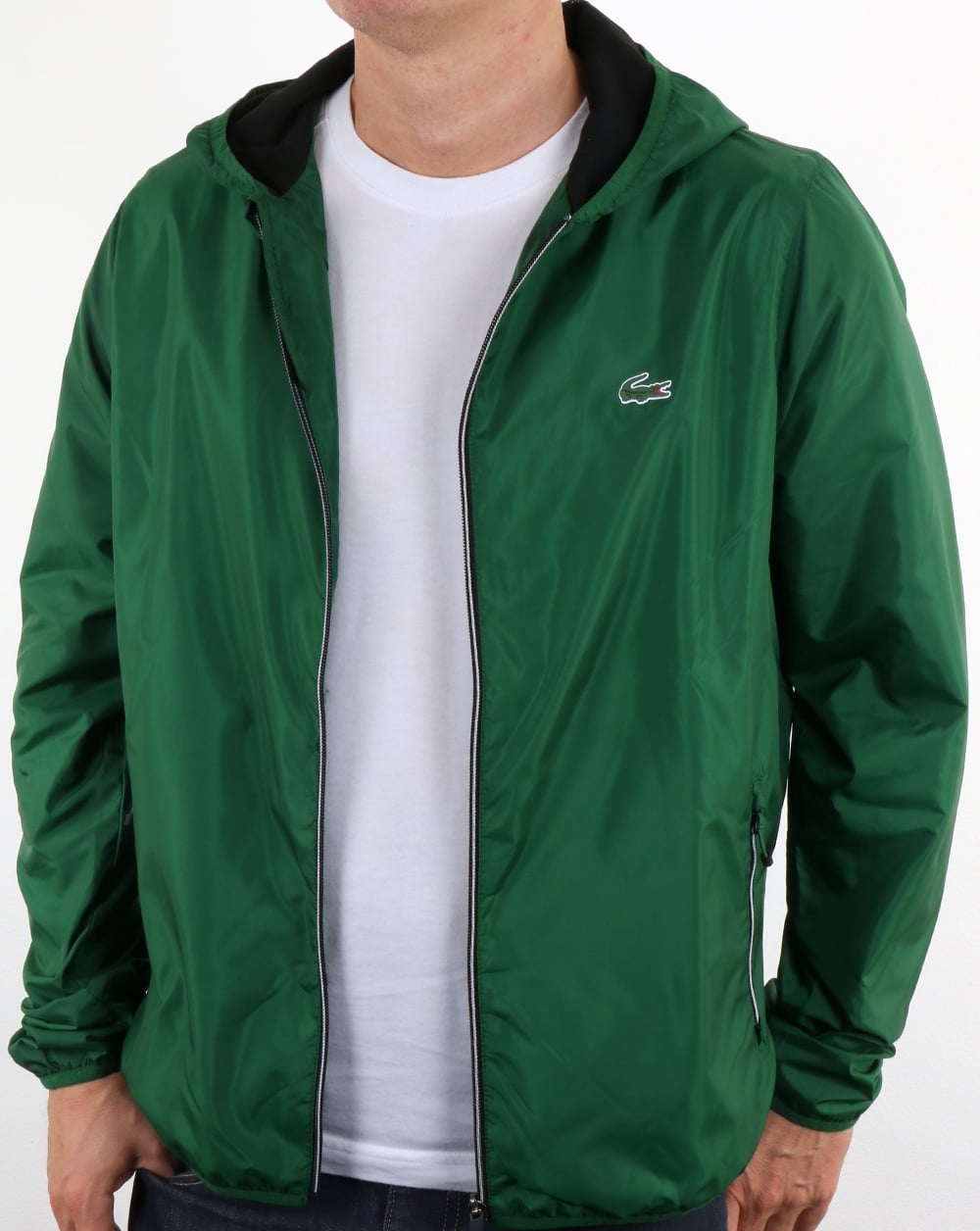 7a099a6f620c56 Lacoste Hooded Jacket Green