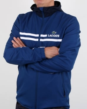 Lacoste Hooded Jacket Marino/navy Blue/white