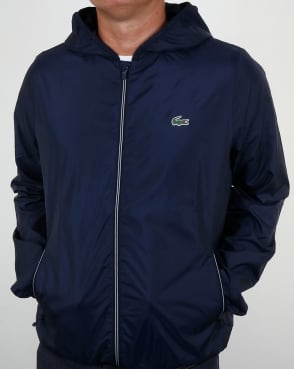 Lacoste Hooded Jacket Navy
