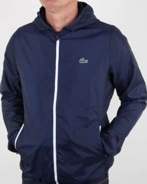 Lacoste Hooded Jacket Navy/white