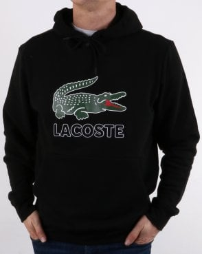 Lacoste Hooded Logo Sweatshirt Black