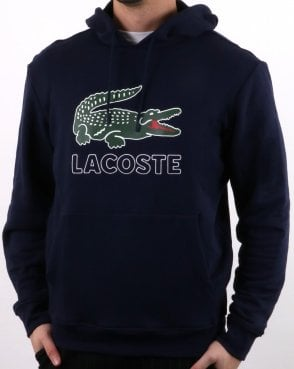 Lacoste Hooded Logo Sweatshirt Navy