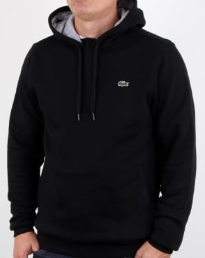 Lacoste Hooded Overhead Sweat Black/silver Chine