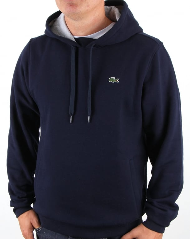 Lacoste Hooded Overhead Sweat Navy/Silver Chine