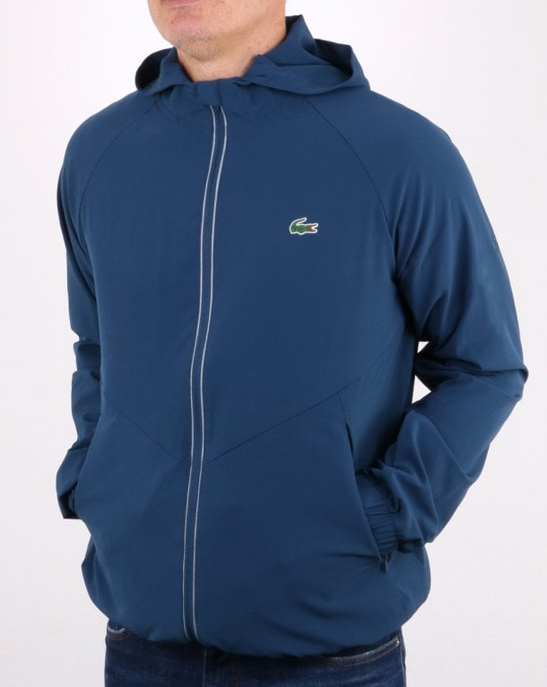 8f29eb085a00 Lacoste Lacoste Hooded Sport Performance Jacket Azurite Black