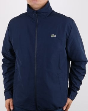 Lacoste Jacket Concealed Hood Navy