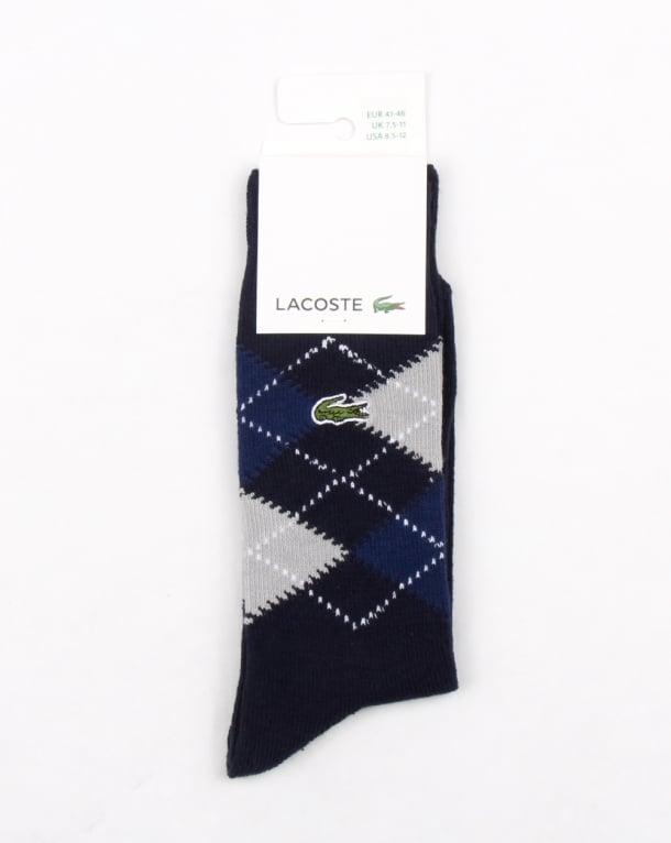 Lacoste Jacquard Socks Navy/silver