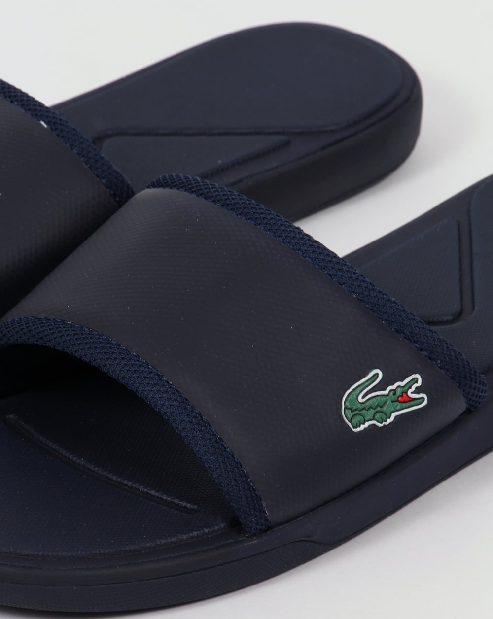 Lacoste L 30 Sport Slides Navy Blue Sandals Flip Flops Mens