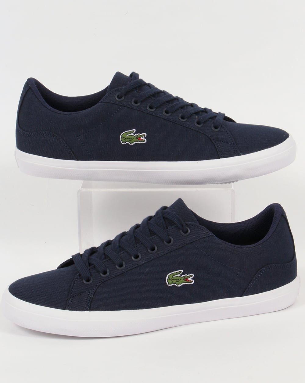 154894af9 Lacoste Lacoste Lerond Canvas Trainers Navy