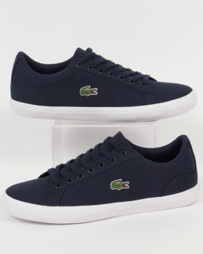 Lacoste Lerond Canvas Trainers Navy
