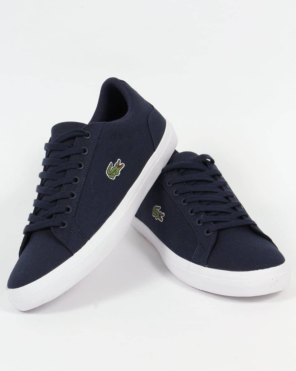 10be46984c83 Lacoste Lerond Canvas Trainers Navy