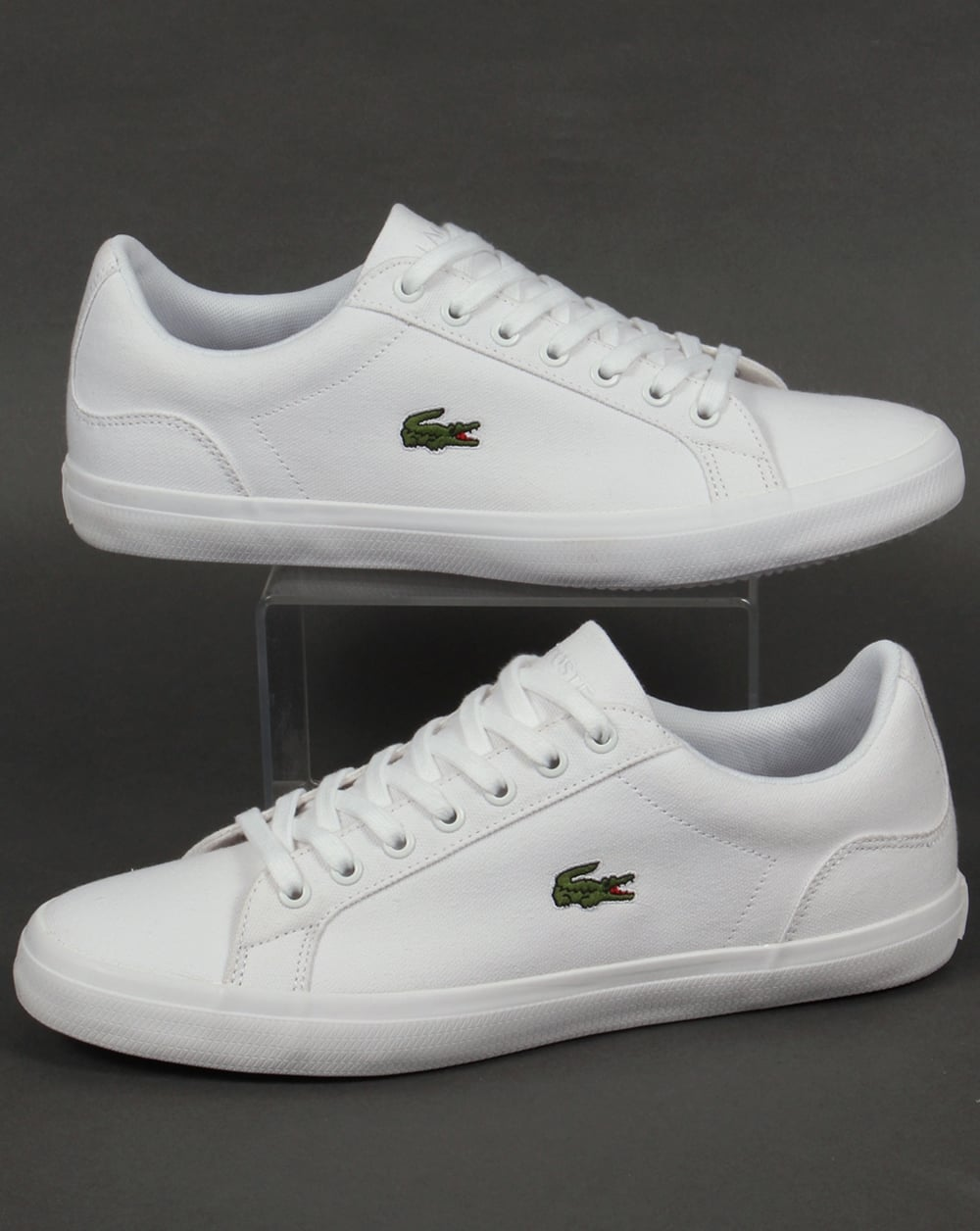 9441256abd0041 Lacoste Lacoste Lerond Canvas Trainers White