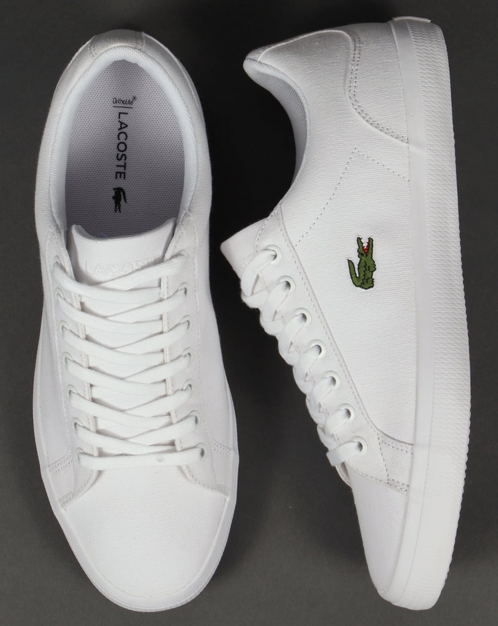 Lacoste Lerond Canvas Trainers White