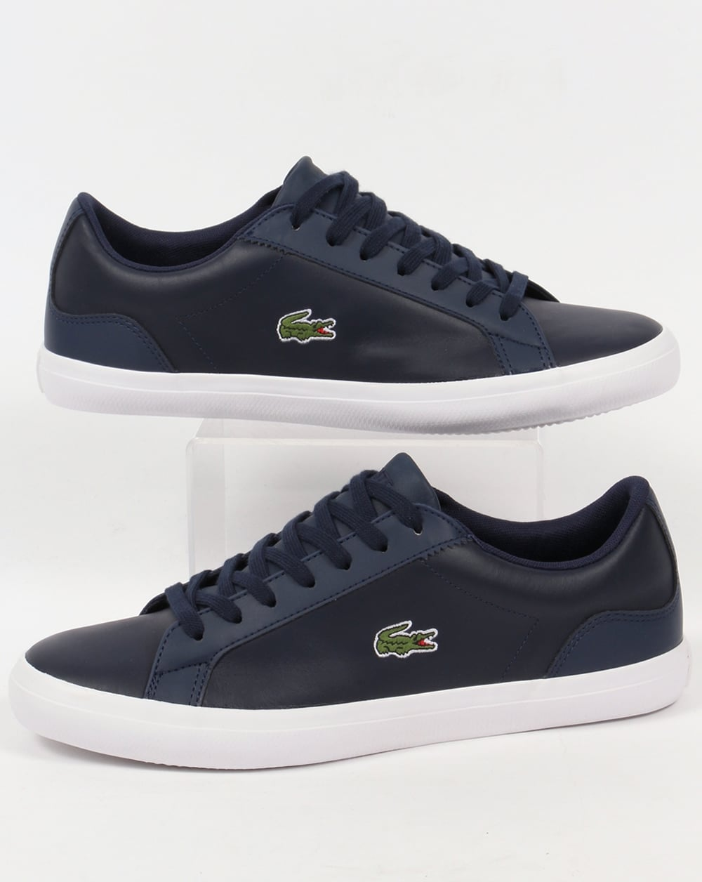 964f9808f291 Lacoste Lacoste Lerond Leather Trainers Navy