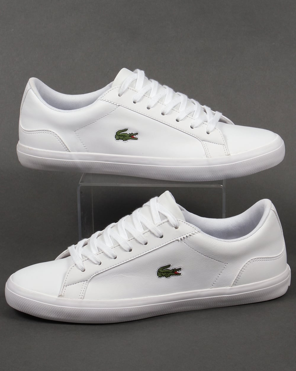 b8a1964ca Lacoste Lacoste Lerond Leather Trainers White