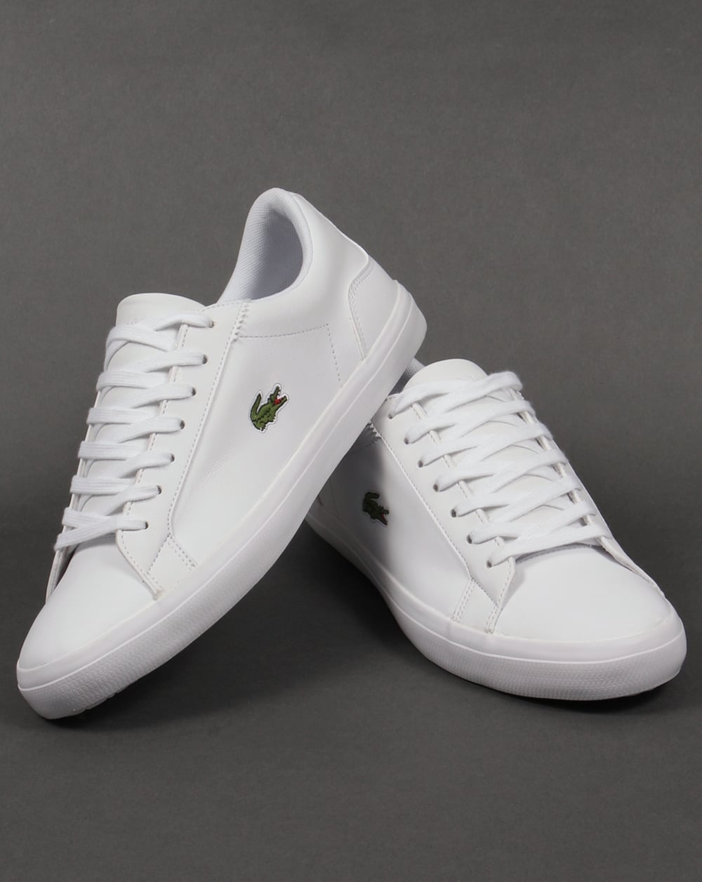 cf718f9d64f5 Lacoste Lerond Leather Trainers White