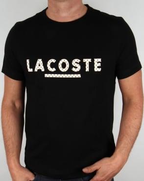 Lacoste Lettering Logo T-shirt Black