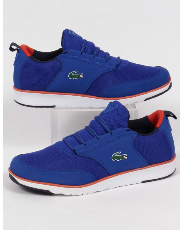 Lacoste Light Trainers Royal Blue/orange