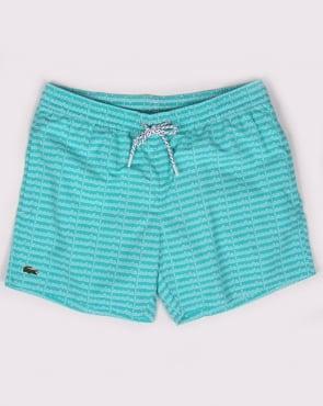 Lacoste Linear Logo Swim Shorts Bermuda